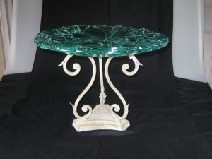 8113 Dark green fragmented platter