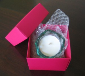 Handmade lotus candle -boxed