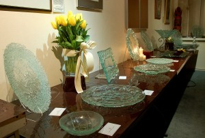 A display of my glass at an exhibition